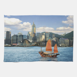 China; Hong Kong; Victoria Harbour; Harbor; A Tea Towel