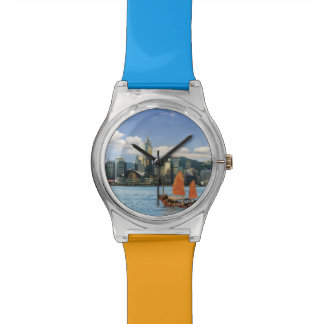 China; Hong Kong; Victoria Harbour; Harbor; A Wristwatch