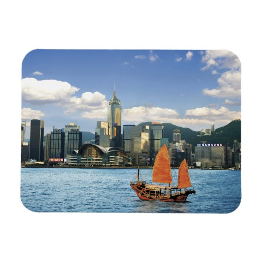 China; Hong Kong; Victoria Harbour; Harbour; A Rectangular Photo Magnet