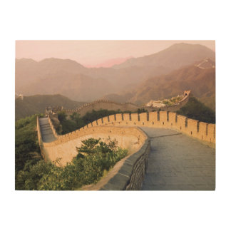 China, Huairou County, Sunset Wood Wall Decor