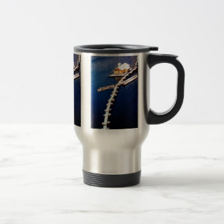 China in winter - House on the lake Travel Mug