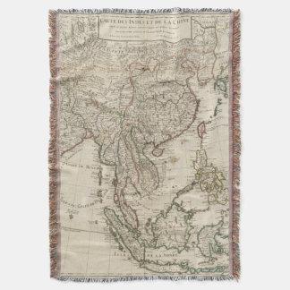 China, India, Asia Throw Blanket