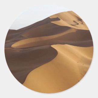 China, Inner Mongolia, Badain Jaran Desert Classic Round Sticker