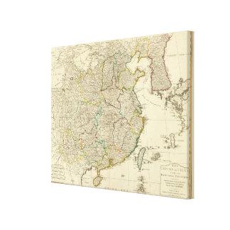 China, Korea atlas map Canvas Print
