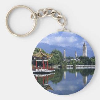 China Lake Basic Round Button Key Ring