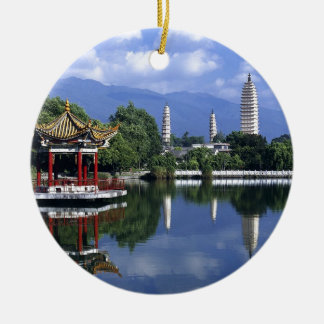 China Lake Round Ceramic Decoration