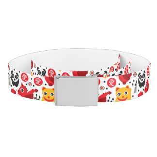 China lucky cat, dragon, and panda belt