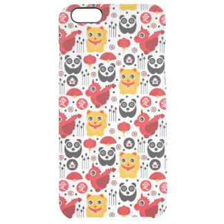 China lucky cat, dragon, and panda clear iPhone 6 plus case