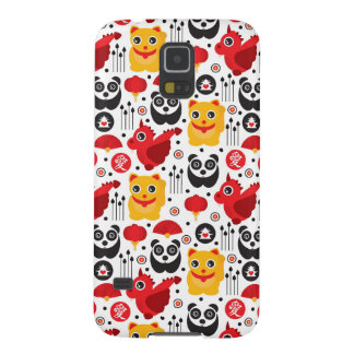 China lucky cat, dragon, and panda galaxy s5 cover