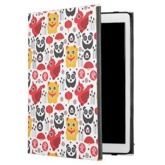 "China lucky cat, dragon, and panda iPad pro 12.9"" case"