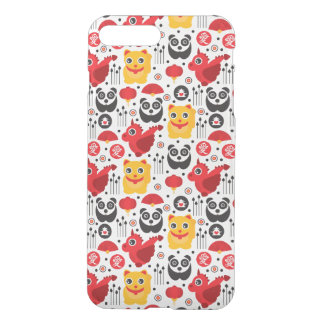 China lucky cat, dragon, and panda iPhone 7 plus case
