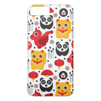 China lucky cat, dragon, and panda iPhone 8 plus/7 plus case