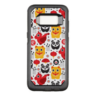 China lucky cat, dragon, and panda OtterBox commuter samsung galaxy s8 case