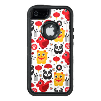 China lucky cat, dragon, and panda OtterBox defender iPhone case