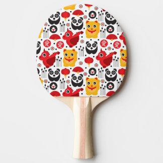 China lucky cat, dragon, and panda ping pong paddle