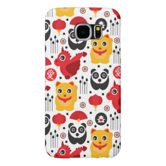 China lucky cat, dragon, and panda samsung galaxy s6 cases