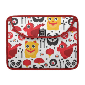 China lucky cat, dragon, and panda sleeve for MacBooks