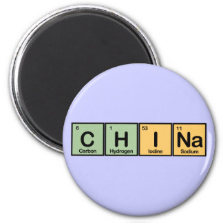 China made of Elements 6 Cm Round Magnet