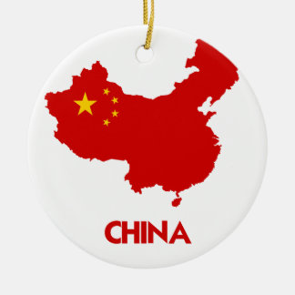 CHINA MAP CHRISTMAS ORNAMENT