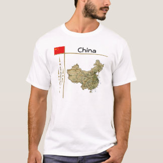 China Map + Flag + Title T-Shirt