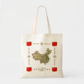 China Map + Flags Bag
