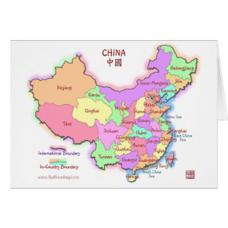 China Map Greeting/Note Card