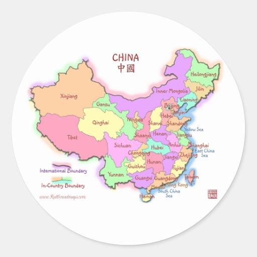 China Map Stickers