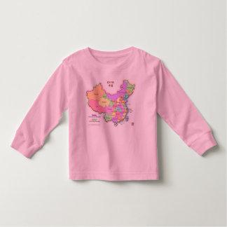 China Map Toddler Shirt