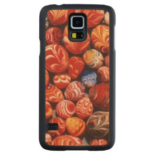 China, Ming Tombs, Painted Glass Souvenirs Carved Maple Galaxy S5 Case