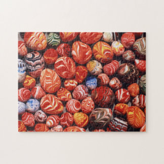 China, Ming Tombs, Painted Glass Souvenirs Jigsaw Puzzle