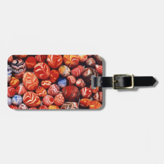 China, Ming Tombs, Painted Glass Souvenirs Luggage Tag