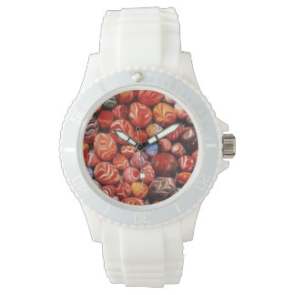 China, Ming Tombs, Painted Glass Souvenirs Wristwatch
