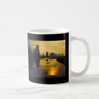 China Mountain Lake Exotic Scenery Coffee Mugs