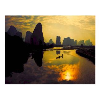China Mountain Lake Exotic Scenery Postcard