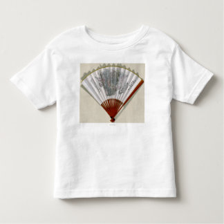 China on the Face of a FanPanoramic Map Toddler T-Shirt