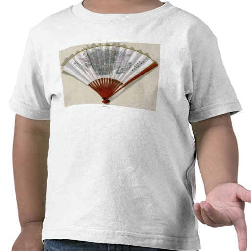 China on the Face of a FanPanoramic Map T-shirts