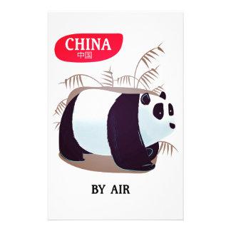 China Panda travel poster Stationery Design