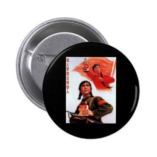 China Propaganda 6 Cm Round Badge