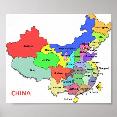 China Map Poster.1868 Map Johnson S China And Japan Poster Zazzle Co Uk