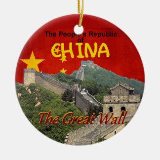 CHINA ROUND CERAMIC DECORATION