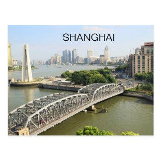 China Shanghai City Skyline Scene Bund Area View Postcard