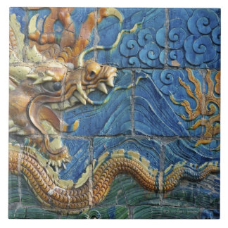 China, Shanxi, Datong, wall of nine dragons Large Square Tile