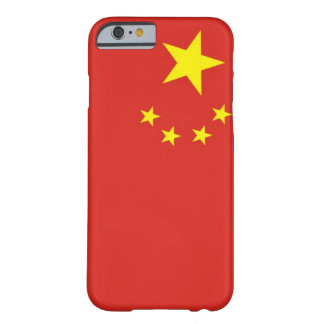 China simple flag barely there iPhone 6 case