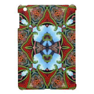 China Symbol of Tokens Kaleidoscope Cover For The iPad Mini