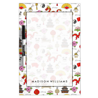 China Symbols Pattern Dry Erase Board