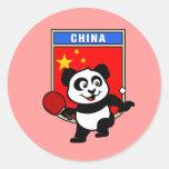 China Table Tennis Panda Classic Round Sticker