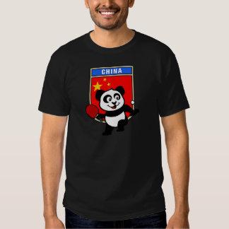 China Table Tennis Panda T Shirts