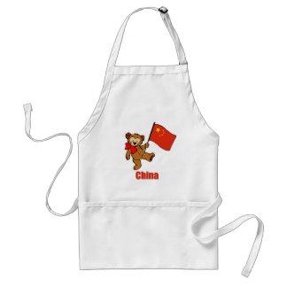 China Teddy Bear Apron