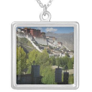 China, Tibet, Lhasa, Potala Palace 2 Silver Plated Necklace