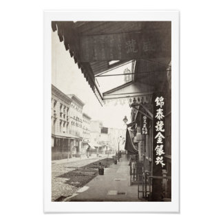 China Town street in San Francisco, vintage Photo Print
